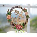 billige Bryllupsblomster-kake topper hage tema floral tema klassisk tema tema tema klassisk par akryl / polyester bryllupsdagen med # poly-bag