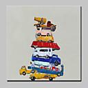 povoljno Ulja na platnu-Hang oslikana uljanim bojama Ručno oslikana - Pop art Moderna / Europska Style Uključi Unutarnji okvir