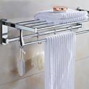 cheap Towel Bars-Bathroom Shelf Modern Stainless Steel 1 pc - Hotel bath Double