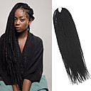 お買い得  人毛つけ毛-ツイスト三つ編み ヘアブレイズ セネガル 100%カネカロンヘア ダークブラウン ブレイズヘア ヘアエクステンション