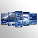 お買い得  プリント-キャンバス地プリント 風景 近代の, 5枚 キャンバス 横式 プリント 壁の装飾 ホームデコレーション