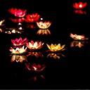 baratos Novidades em Iluminação-lotus dom Dia dos Namorados desejando vela votiva cor da lâmpada vela de aniversário lâmpada lanterna água casamento decoração ramdon