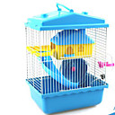 baratos Adesivos de Parede-Roedores Hamster Plástico Gaiolas Café Azul Rosa claro