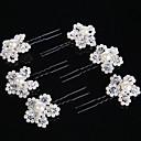 preiswerte Parykopfbedeckungen-Perle / Krystall Haar-Stock / Haarnadel mit 1 Hochzeit / Besondere Anlässe Kopfschmuck