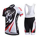 ราคาถูก ชุดเซทปั่นจักรยาน-AOZHIDIAN สำหรับผู้หญิง แขนสั้น Cycling Jersey with Bib Shorts - ขาว จักรยาน ชุดออกกำลังกาย ระบายอากาศ แห้งเร็ว กระเป๋าหลัง Sweat-wicking กีฬา ความเย็นสุด® ตารางไขว้ ซิลิโคน คลาสสิก / ยืด