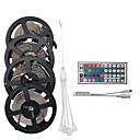 abordables Accesorios de Iluminación-20m 4 * 5m 1200smd 3528 rgb 44keys ir control remoto led strip light sets ac100-240v