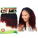 cheap Human Hair Wigs-8 14inch 8 pcs lot brazilian deep curly ombre burgundy color virgin hair brazilian virgin hair kinky curly hair weave bundles cheap human hair