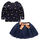 preiswerte Kleidersets für Mädchen-Mädchen Kleidungs Set Sterne Vintage Natur Baumwolle Ganzjährig Langarm Niedlich Freizeit Aktiv Blau