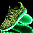 preiswerte Jungenschuhe-Jungen Schuhe Tüll Frühling Komfort / Neuheit Sneakers Walking Klettverschluss / LED für Rot / Grün / Blau