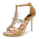 abordables Juegos de Joyería-Mujer Zapatos Purpurina / PU Zapatos del club Sandalias Tacón Stiletto Pedrería Dorado / Plata / Boda / Fiesta y Noche