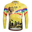abordables Maillots Ciclismo-Miloto Hombre Manga Larga Maillot de Ciclismo Bicicleta Camiseta / Maillot, Secado rápido, Transpirable, Reductor del Sudor