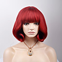 cheap Synthetic Capless Wigs-Synthetic Wig Straight Synthetic Hair Red Wig Women's Short Capless