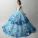 baratos Roupas para Barbies-Festa/Noite Vestidos Para Boneca Barbie Organza Lantejoula Vestido Para Menina de Boneca de Brinquedo