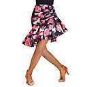 رخيصةأون ملابس رقص لاتيني-الرقص اللاتيني بنطلونات وفساتين نسائي سباندكس / نايلون نموذج / طباعة / طيات ارتفاع متوسط تنانير