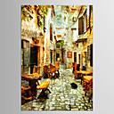 abordables Adhesivos de Pared-Floral/Botánico Paisajes Abstractos Clásico Estilo europeo, Un Panel Lona Vertical Estampado Decoración de pared Decoración hogareña