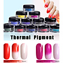 cheap Rhinestone & Decorations-1g box the temperature change of nail polish mirror powder chameleon nail powder