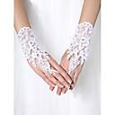 preiswerte Handschuhe für die Party-Tüll Handgelenk-Länge Handschuh Brauthandschuhe Mit Perlenstickerei