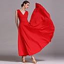 cheap Ballroom Dance Wear-Ballroom Dance Dresses Women's Performance Viscose Draping Sleeveless Dress