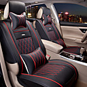 cheap Steering Wheel Covers-ODEER Car Seat Covers Seat Covers Coffee / Black and White / Black / Red Textile / PU Leather Business For universal