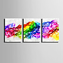 cheap Prints-Abstract Fantasy Modern, Three Panels Canvas Vertical Print Wall Decor Home Decoration