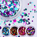 cheap Nail Glitter-12pcs Glitter Powder Sequins nail art Manicure Pedicure Daily Glitters / Fashion