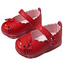 رخيصةأون باروكات كابلس صناعية-فتيات أحذية PU لربيع وصيف مريح / نعال خفيفة اخفاف إلى أحمر / أزرق / زهري