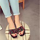 رخيصةأون صنادل نسائية-للمرأة أحذية جلد صيف صنادل أبيض / أسود