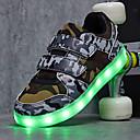 abordables Zapatos de Niño-Chico Zapatos Tul Otoño Confort / Zapatos con luz Zapatillas de Atletismo Paseo Cinta Adhesiva para Blanco / Negro / Arco iris