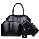 cheap Bag Sets-Women's Bags PU Bag Set Zipper Black / Brown / Wine