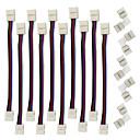 billige Lampesokler og kontakter-zdm 5pcs hurtig splitterkontakt 10mm l form 5bb leder for 5050 wrgb med 10pcs strip lys kontakt linje