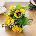 baratos Flor artificiali-Flores artificiais 1 Ramo Estilo Moderno Girassóis Flor de Mesa
