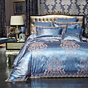 cheap Trend Duvet Covers-Duvet Cover Sets Luxury Embroidery 4 PieceBedding Sets / 500 / 4pcs (1 Duvet Cover, 1 Flat Sheet, 2 Shams)