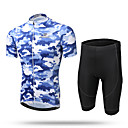 cheap Cycling Jersey & Shorts / Pants Sets-XINTOWN Men's Short Sleeves Cycling Jersey with Shorts - Yellow Animal Bike Shorts Jersey Clothing Suits, Quick Dry, Breathable,