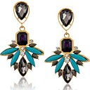 cheap Earrings-Crystal Drop Earrings - Gold / Blue For Party / Daily / Casual