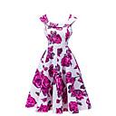 baratos Clutches & Bolsas de Noite-Mulheres Para Noite Vintage Vestidinho Preto Vestido - Pregueado, Floral Acima do Joelho / Verão / Padrões florais