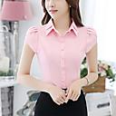 baratos Adesivos de Parede-Mulheres Camisa Social - Para Noite Sólido Colarinho Chinês / Verão