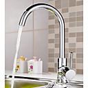 preiswerte Bodenabfluss-Armatur für die Küche - Einhand Ein Loch Chrom Standard Spout / Hoch / High-Arc Mittellage Moderne / Art déco / Retro / Modern Kitchen Taps