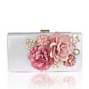 cheap Clutches & Evening Bags-Women's Bags Polyester Evening Bag Imitation Pearl / Flower Black / Red / Fuchsia / Wedding Bags
