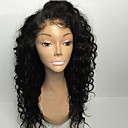 cheap Human Hair Capless Wigs-8a 8-30inch Human Hair glueless lace front wigs curly natural black color brazilian human hair lace wigs for women with baby hair natural hairline Bleached Knots
