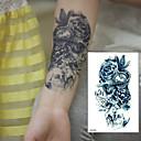 baratos adesivos tatuagem-Á Prova d'água / Efeito 3D / Etiqueta do tatuagem Braço Tatuagens temporárias 1 pcs Séries Flores Arte para o Corpo