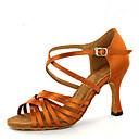 baratos Artigos de Forno-Mulheres Sapatos de Dança Latina / Sapatos de Jazz / Sapatos de Salsa Cetim Sandália / Salto Lantejoulas / Presilha Salto Personalizado