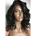 Χαμηλού Κόστους Περούκες από Ανθρώπινη Τρίχα-Φυσικά μαλλιά Δαντέλα Μπροστά Χωρίς Κόλλα Δαντέλα Μπροστά Περούκα Κούρεμα καρέ στυλ Βραζιλιάνικη Κυματιστό Περούκα 130% Πυκνότητα μαλλιών / Φυσική γραμμή των μαλλιών / 100% δεμένη στο χέρι
