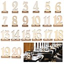 cheap Party Supplies-Table Number Cards Wood Wedding Decorations Anniversary / Birthday / Engagement Garden Theme / Classic Theme Spring / Summer / Fall