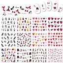 cheap Water Transfer Nail Stickers-12designs/Set Cute / Nail Decals Water Transfer Sticker / Nail Sticker Nail Art Design Smooth Sticker / Fashionable Design Daily / Date / Valentine's Day