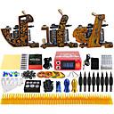 رخيصةأون آلات الوشم-Solong Tattoo آلة الوشم المهنية الوشم كيت - 3 pcs آلات الوشم, متخصص LCD امدادات الطاقة No case 3 وشم سبيكة س آلة للبطانة والتظليل