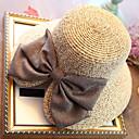 Χαμηλού Κόστους Γυναικεία παπούτσια γάμου-Γυναικεία Μονόχρωμο Γιορτή Άχυρο Ψάθινο καπέλο Καπέλο ηλίου Καλοκαίρι Μπεζ Βαθυγάλαζο Χακί