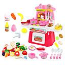 preiswerte Spielküchen & Spiellebensmittel-beiens Spielzeug-Küchen-Sets Spielzeug Geschirr Tee-Sets Kinderkochgeräte Tue so als ob du spielst LED - Beleuchtung Klang ABS Mädchen