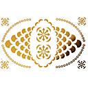 billige Bageredskaber-Tatoveringsklistermærker - Mønster - Dame/Girl/Voksen/Teen - Guld - Papir