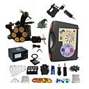 tanie Zestawy biżuterii-BaseKey Maszynka do tatuażu Profesjonalny zestaw do tatuażu - 2 pcs Maszyna do tatuowania Analogowy zasilacz Etui w komplecie 1 Maszynka liner/shader rotacyjna / 1 Maszynka liner/shader ze stopu
