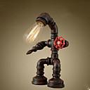 tanie Lampy stołowe-Rustykalny / Nowość LED Lampa biurkowa Na Metal 220-240V